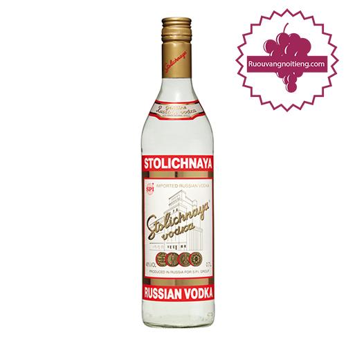 Rượu Vodka Stolichnaya - ruouvangnoitieng.com