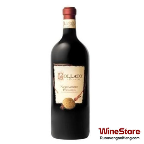 "Rượu vang ""Bollato"" Negroamaro Primitivo IGP Puglia 2014 - ruouvangnoitieng.com"