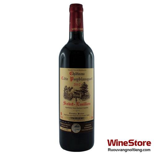 Rượu vang Château 2014 Côte Puyblanquet - ruouvangnoitieng.com