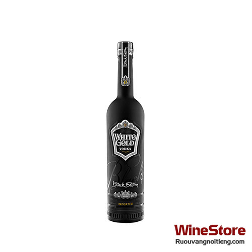 Rượu Vodka White Gold Black Edition 500ml - ruouvangnoitieng.com