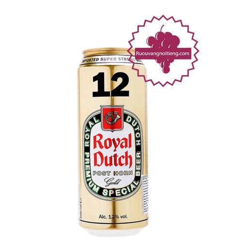 Bia Royal Dutch Post Horn Full Flavour lon 12 % [BM] - ruouvangnoitieng.com