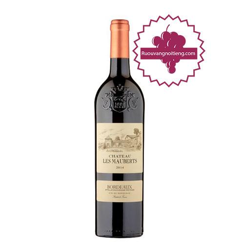 Rượu vang Bordeaux Chateau Les Mauberts [VA]-ruouvangnoitieng.com