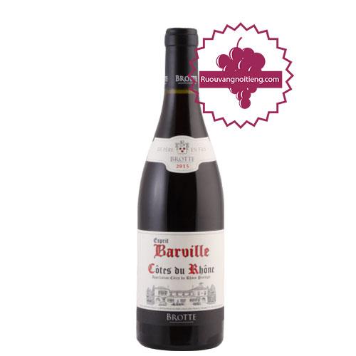 Rượu vang Cotes Du Rhone Esprit Barville [PE] - ruouvangnoitieng.com