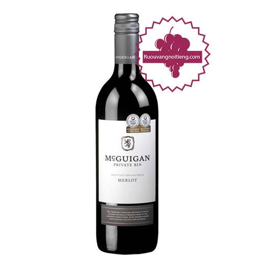 Rượu vang McGuigan Private Bin - Merlot