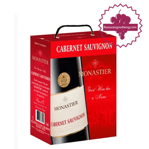 Rượu vang Monastier Cabernet Sauvignon BIB 3 Lít [VA] - ruouvangnoitieng.com