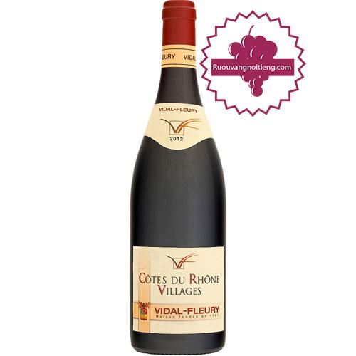 Rượu Vang Vacqueyras Rouge by Vidal-Fleury [HT] - ruouvangnoitieng.com