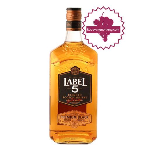 Premium Black Label: Rượu Whisky Label 5 Premium Black
