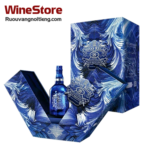 Rượu Chivas 18 Blue Signature - Diện mạo Tết 2021