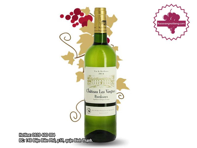Rượu vang Chateau Les Vergnes