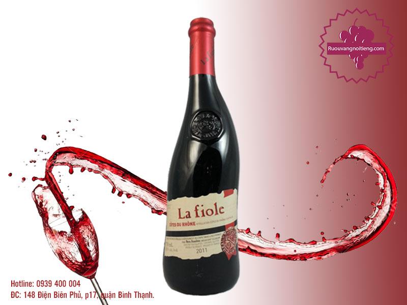 Rượu vang Cotes Du Rhone La Fiole